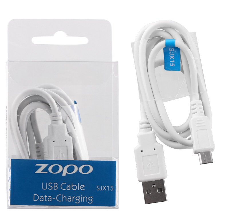 ZOPO SJX15 MICRO USB CHARGING DATA 1.0Ah WHITE