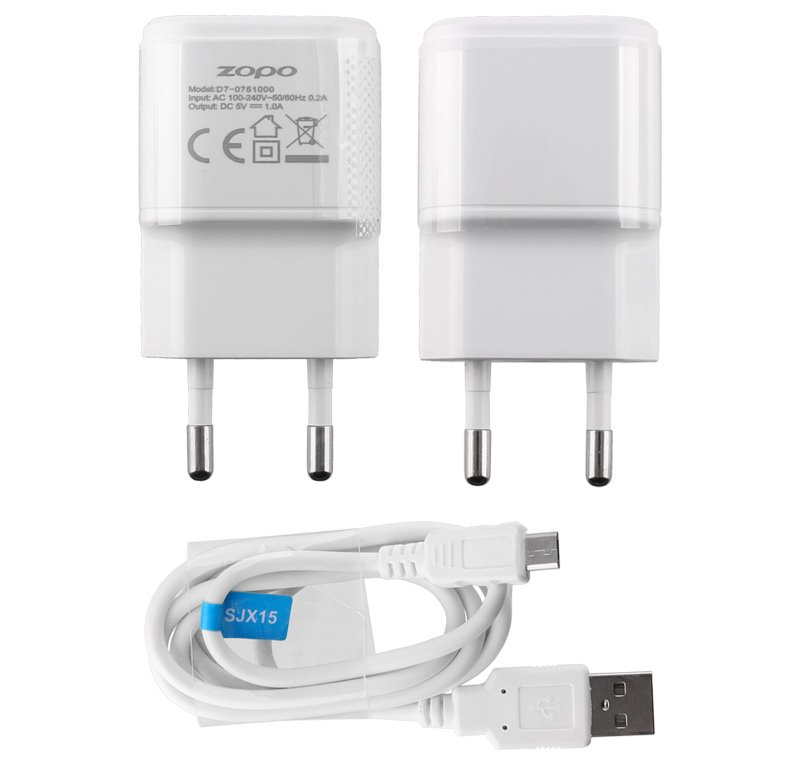 TRAVEL ZOPO D7-0751000+USB SJX15 C5i ZP567 USB 1000mA WHITE
