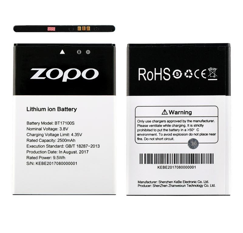 BATTERY ZOPO FLASH X1 ZP17105 5.5″ 2500mAh