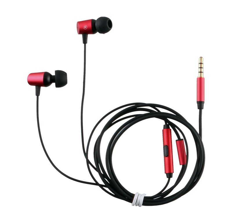 H/F STEREO ZOPO ER17A UNIVERSAL 3.5mm ALUMINIUM RED 1.2M
