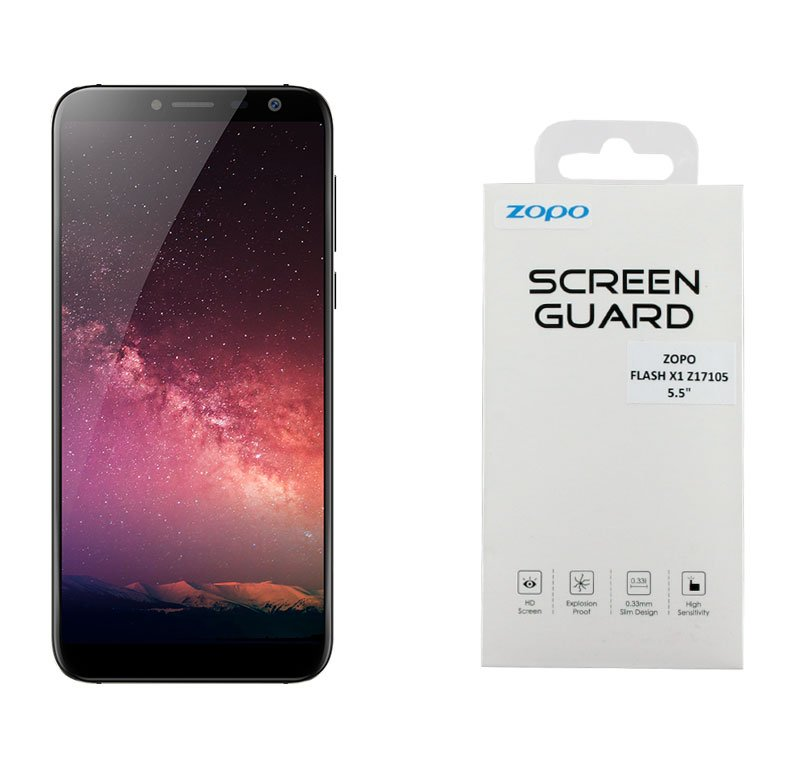 TEMPERED GLASS ZOPO FLASH X1 Z17105 5.5″ 9H 0.33mm FULL COVER