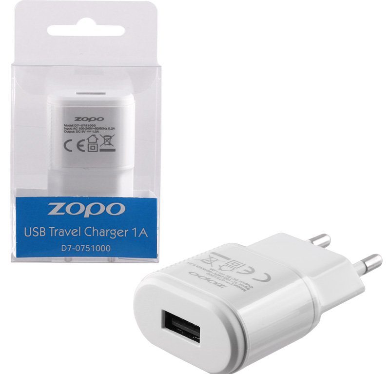 TRAVEL ZOPO D7-0751000 C5i ZP567 USB 1000mA WHITE