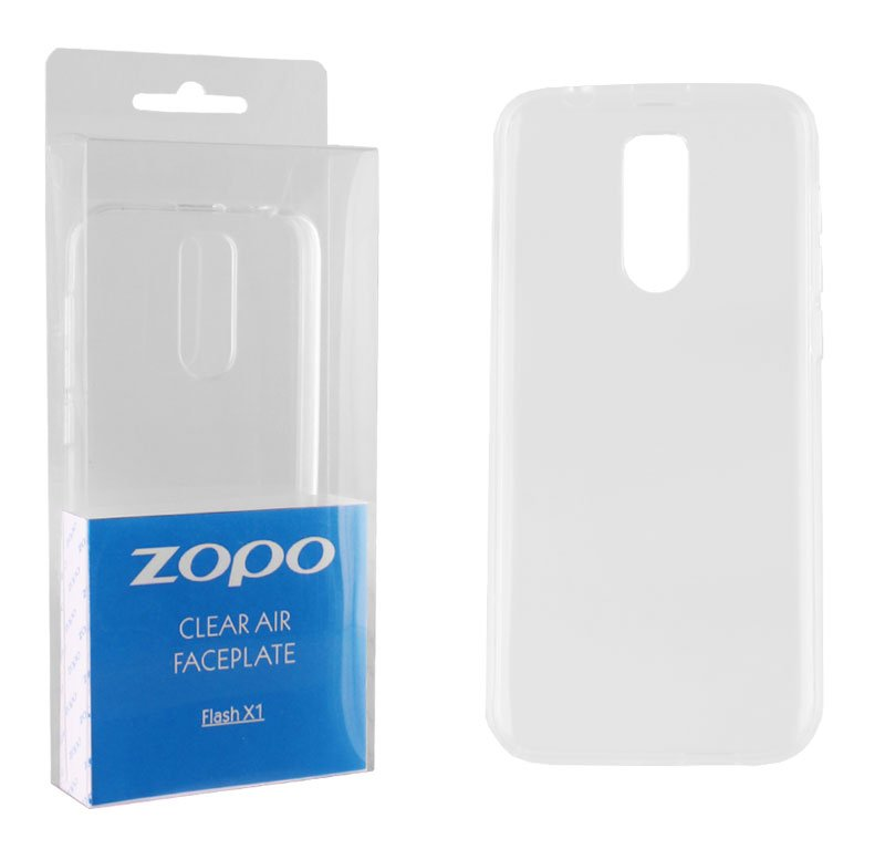 CASE ZOPO FLASH X1 CLEAR AIR FACEPLATE TRANSPARENT