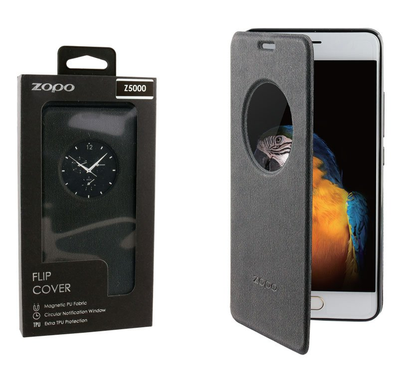 ΘΗΚΗ ZOPO Z5000 LEATHER BOOK FLIPCOVER BLACK