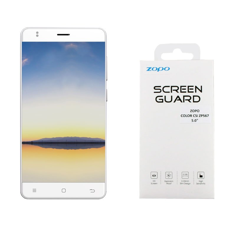 TEMPERED GLASS ZOPO COLOR C5i ZP567 5.0″ 9H 0.33mm FULL COVER