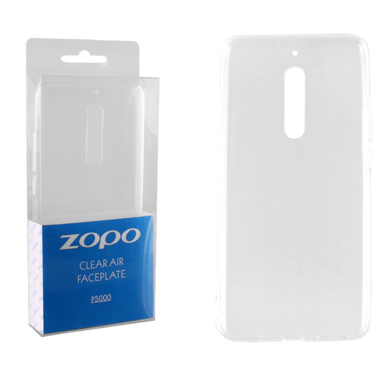 CASE ZOPO P5000 CLEAR AIR FACEPLATE TRANSPARENT